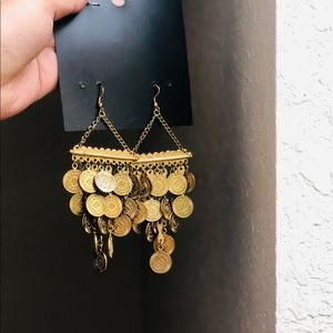 Antique chunky metal earrings